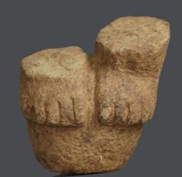 Base de escultura antropomorfa del sitio Batambal
