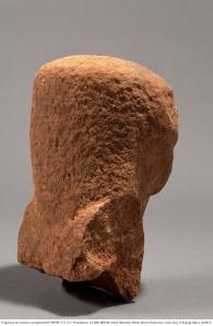 Rodrigo Rubí J.  Fragmento de escultura antropomorfa P-299-BT-F. E-112 / Procedencia: Cd 82N 28W/44 cmb/d. Batambal, Palmar Norte, Puntarenas. Costa Rica. ft Rodrigo Rubí J. dic2012.