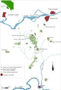 Distribución de vestigios Chiriquí Delta