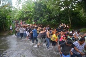 Jirondai traslado por rio